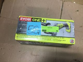 18 Volt ONE  Cordless Brushless 4 1 2 in  Cut Off Tool Angle Grinder  Tool Only  by RYOBI in good condition