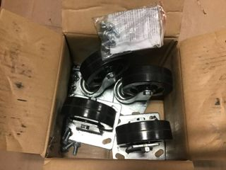 4 in  Rubber Caster Kit by Shepherd in good condition