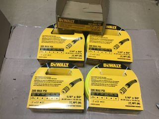 50 ft  x 1 4 in  Air Hose by DEWAlT in good condition
