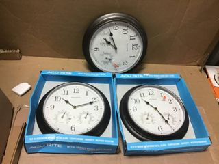 13 in  Copper Analog Clock Thermometer Hygrometer Combo by AcuRite in good condition