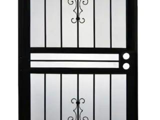 Gatehouse Resolute 30 in x 80 in Black Steel Recessed Mount Single Door Security Door