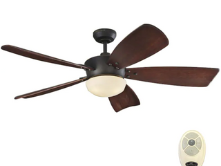 Harbor Breeze Saratoga 60 in Oil Rubbed Bronze lED Indoor Ceiling Fan with Remote  5 Blade