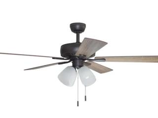Harbor Breeze Grace Bay 52 in Bronze lED Indoor Ceiling Fan  5 Blade