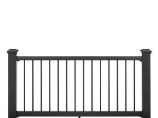 Trex Transcend 8 ft  x 36  Rail Kit with Square Balusters  Charcoal Black