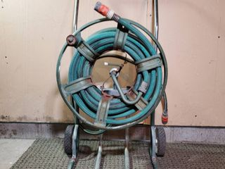 Garden Hose and Reel Mobile Cart
