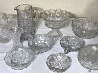 9  Pieces of Clear Glass