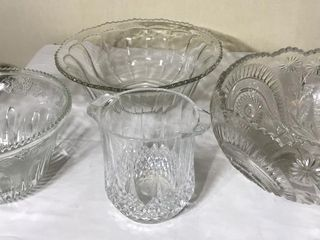 3  large Punch Bowls