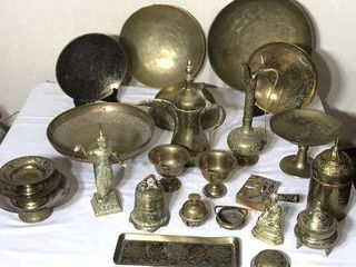 27  Pieces of Oriental Brass