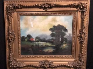 Chalk Drawing in Antique Frame