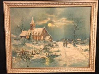 Christmas Eve Antique Print