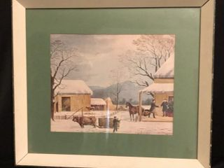 Quaker Winter Scene Print