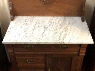Marble Top Eastlake Dry Sink