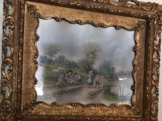 Chandler Antique Print in Ornate Frame