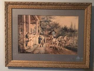 Antique Plantation Print   Frame
