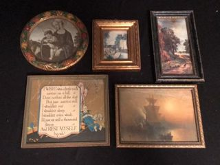 5  Antique Small Prints
