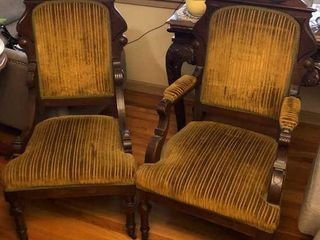 2  Antique Parlor Chairs