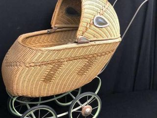Wicker Mary lu Doll Cart
