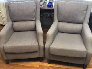 2  light Grey Arm Chairs