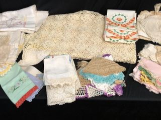 Crocheted Tablecloth and Doilies