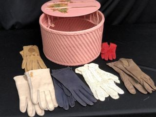 Vintage Sewing Chest and Gloves