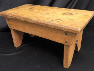 Small Antique Oak Stool