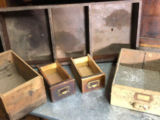 5  Antique Drawers