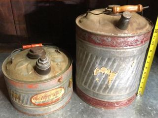Ironsides Fuel Cans 5 and 2 1 2 Gal