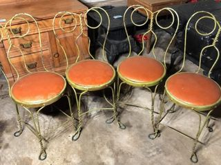 4  Ice Cream Parlor Chairs
