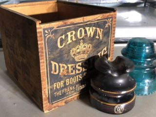 Crown Dressing Box with 2 Insulators