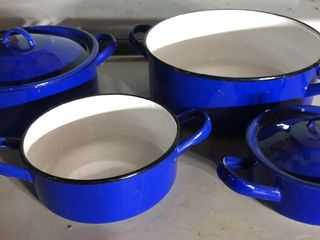 Polish Blue Enamelware