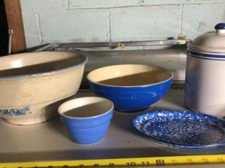 5 Stoneware Pieces