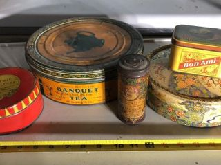 5  Advertising Tins
