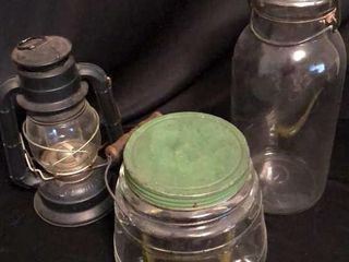 2  Jars and Dietz Railroad lantern