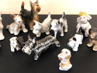 12  Scottie Dog Figurines