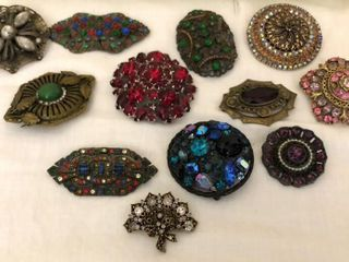 12  Antique Pins and Brooches