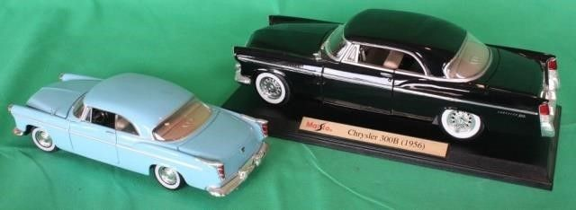 Two 1956 Chrysler 300  1 18   1 24 Scale