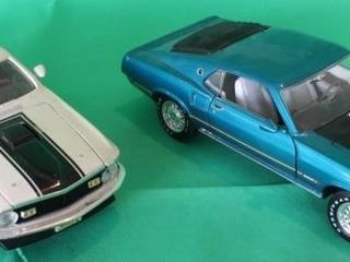 Two  69  70 Ford Mustang Mach 1  1 18 Scale