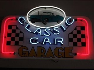 Classic Car Garage Neon Sign