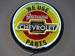 Genuine Chevrolet We Use Parts Neon Sign