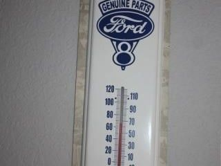 Ford Parts V8 Engine Indoor Thermometer