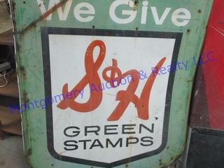 S H GREEN STAMP SIGN