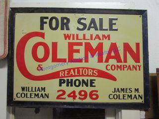 COlEMAN RE SIGN