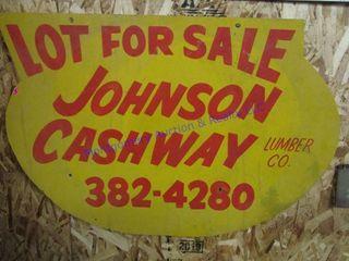 JOHNSON CASHWAY SIGN