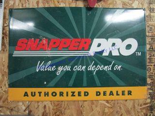 SNAPPER PRO DEAlER SIGN