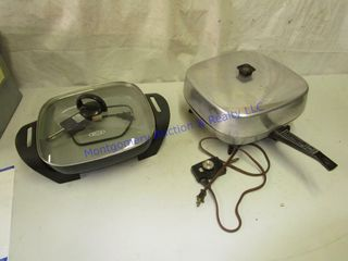2 ElECTRIC SKIllETS