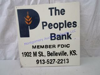PEOPlES BANK SIGN