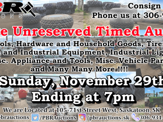 Large Unreserved Farm & Industrial Auction (Non-VIN Items) - Timed Auction - Nov. 29th Ending at 7pm