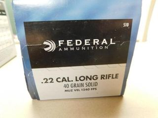Federal  22lR 40gr solid 500 rds