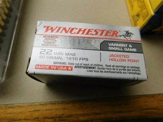 Winchester 22 mag 40gr50 rds