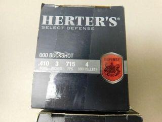 Herters 410ga 25 slugs   25 000 Buckshot